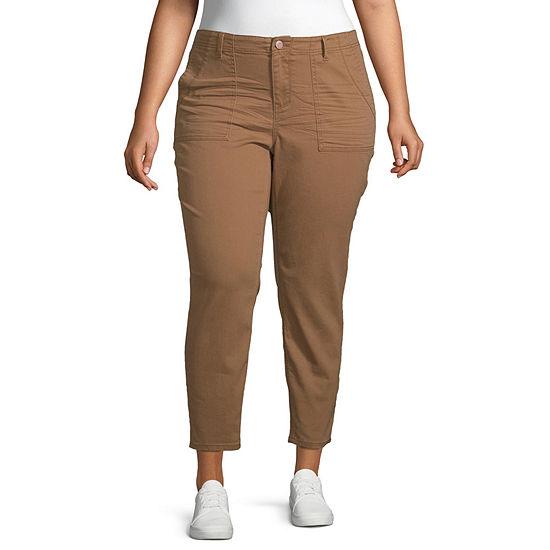 Vanilla Star Womens Skinny Cargo Pant-Juniors Plus