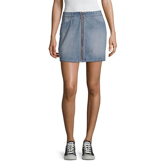 Rewash Womens Mid Rise Short Denim Skirt Juniors