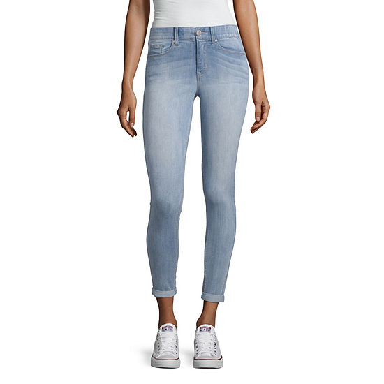 Almost Famous Womens Mid Rise Ankle Regular Fit Jean - Juniors