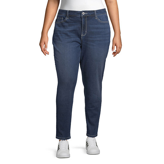 Arizona Superflex Womens High Waisted Skinny Stretch Jeggings - Juniors Plus