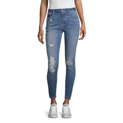 Arizona Superflex Womens High Waisted Skinny Stretch Jeggings - Juniors
