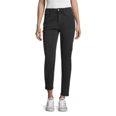 Arizona Womens High Waisted Cuffed Relaxed Fit Jean - Juniors
