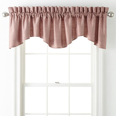 JCPenney Home Supreme Rod-Pocket Scallop Valance, One Size , Pink
