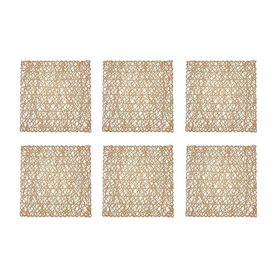 Design Imports Square Woven Paper 6-pc. Placemat