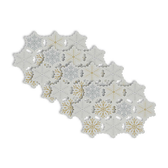 Design Imports Embroidered Snowflake 4-pc. Placemat