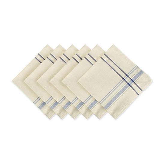 Design Imports French Stripe 6-pc. Napkins