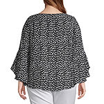 Bold Elements 3/4 Chain Woven Blouse - Plus