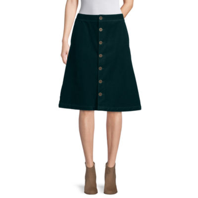 St. John's Bay Womens Long A-Line Skirt
