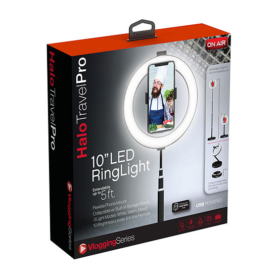 "On Air Halo Travel Pro 10"" LED Ring Light"