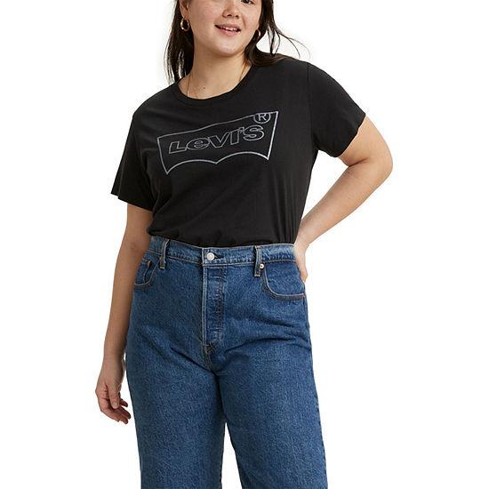 Levi's Plus Perfect Womens Crew Neck Short Sleeve T-Shirt
