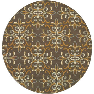Covington Home Filigree Indoor/Outdoor Round Rug