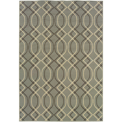 Covington Home Air Waves Indoor/Outdoor Rectangular Rug