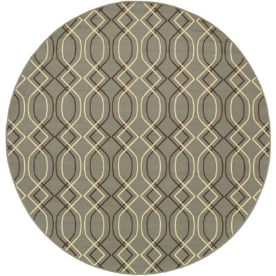 Covington Home Air Waves Indoor/Outdoor Round Rug