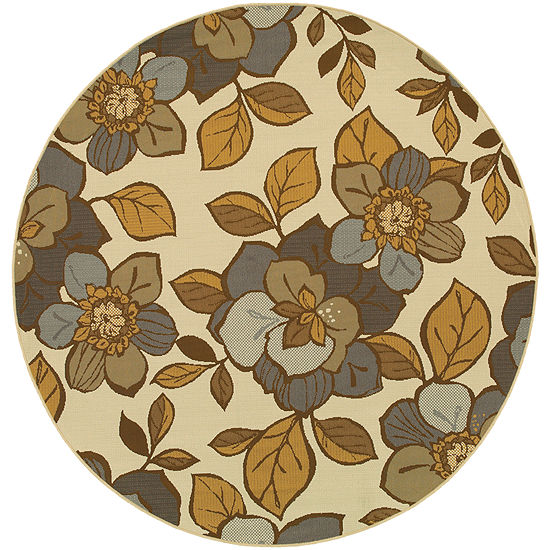 Covington Home Dogwood Indoor/Outdoor Round Rug