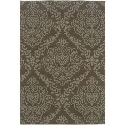 Covington Home Damask Indoor/Outdoor Rectangular Rug