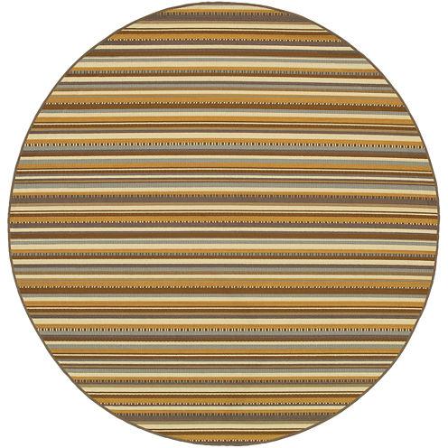 Covington Home Stripe Indoor/Outdoor Round Rug