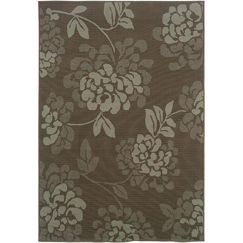 Covington Home Shadow Floral Indoor/Outdoor Rectangular Rug