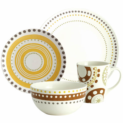 Rachael Ray® Circles and Dots 16-pc. Dinnerware Set  sc 1 st  JCPenney & Rachael Ray Circles u0026 Dots 16 pc Dinnerware Set