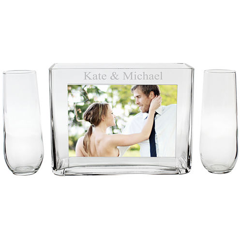 Cathy's Concepts Personalized Unity Sand Ceremony Photo Vase Set