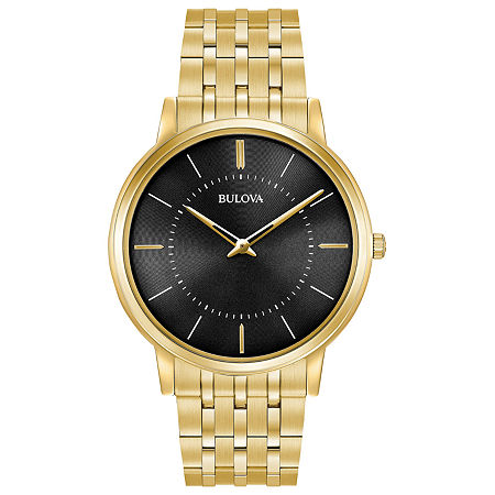 Bulova Classic Mens Gold Tone Stainless Steel Bracelet Watch - 97a127, One Size