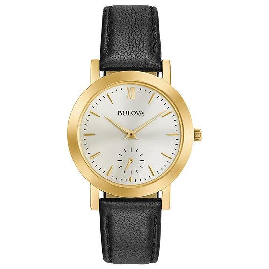 Bulova Classic Womens Black Strap Watch-97l159