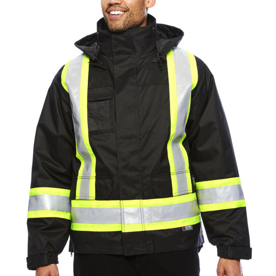 Work King® High Visibility Lined 5-In-1 Jacket - Big & Tall