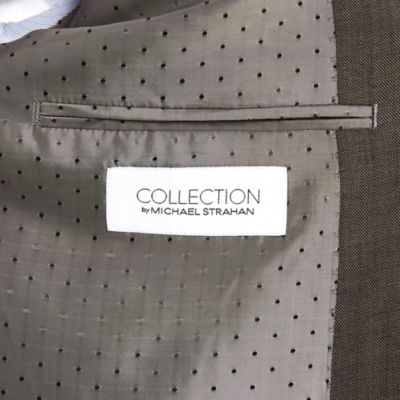 Collection by Michael Strahan Brown Sharkskin Jacket