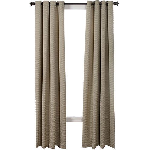 Boiler Plate Textured Grommet-Top Curtain Panel