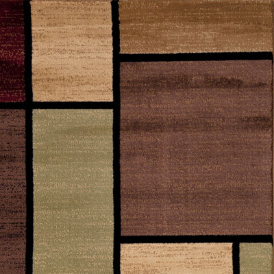 Alpine Squares Rectangular Rug