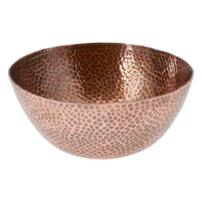 Thirstystone® Urban Farm Round Hammered Antique Copper Bowl