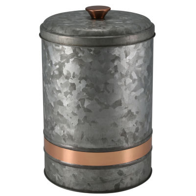 Thirstystone® Urban Farm Galvanized Iron With Copper Tone Band Canister