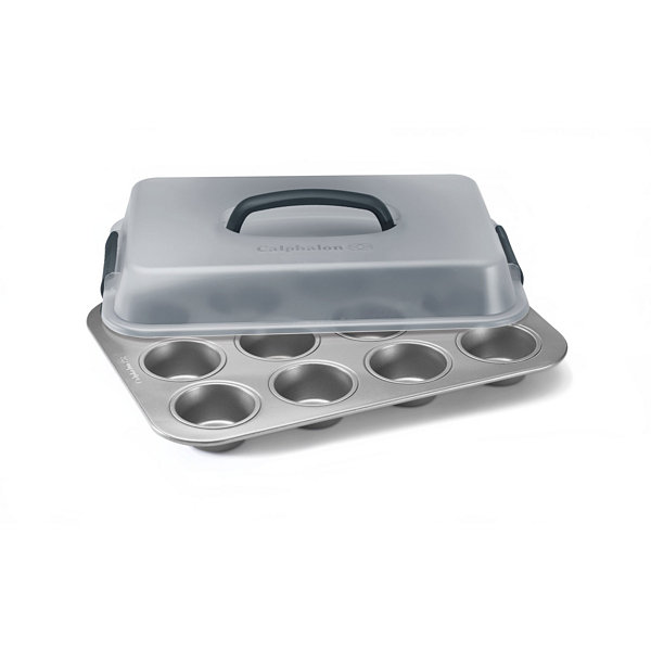 Calphalon® Gourmet Hard-Anodized Nonstick 12-CupCovered Cupcake Pan