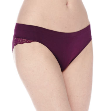 Ambrielle® Seamless Lace Cheeky Panties