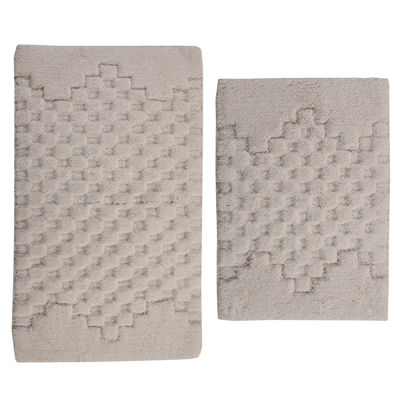 Castle Hill London Melange 2-pc. Bath Rug Set