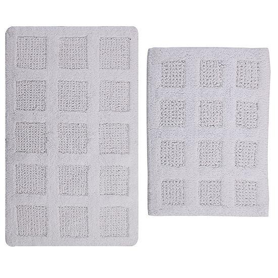 Perthshire Platinum Collection Square Honeycomb Reversible 2-pc. Bath Rug Set