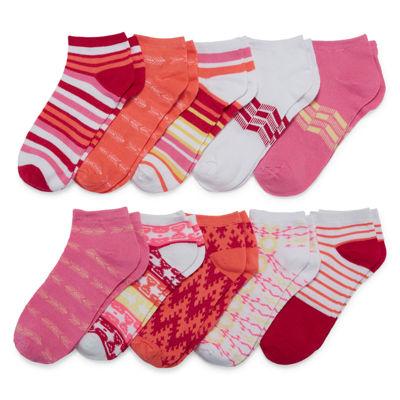 Mixit™ 10-pk. No-Show Socks