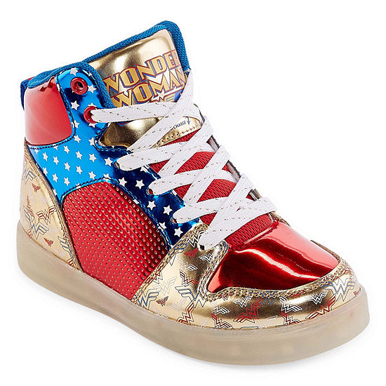 Warner Bros Wonder Woman Light Up Girls Sneakers Little Kids Big Kids