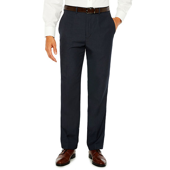 Stafford Flat Front Classic Fit Dress Pants