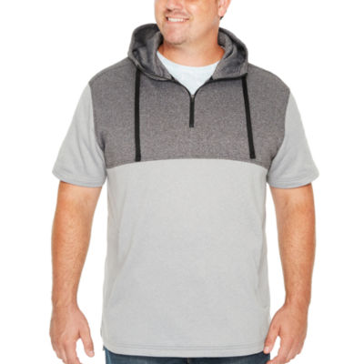 The Foundry Big & Tall Supply Co. Foundry Mens Hooded Neck Short Sleeve Hoodie-Big and Tall