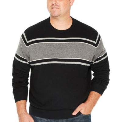 IZOD Crew Neck Long Sleeve Pullover Sweater - Big and Tall