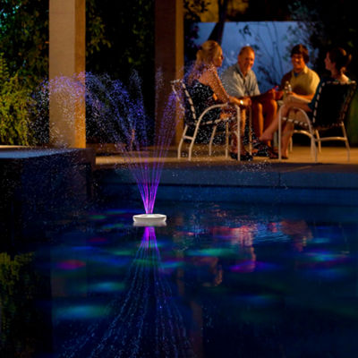 Blue Wave Aquajet Floating Pool Light Show & Fountain