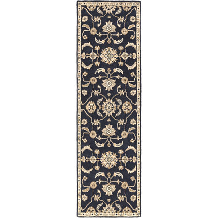 Decor 140 Hanzei Rectangular Rugs, One Size , Black