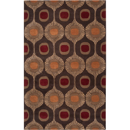 Decor 140 Gemla Rectangular Rugs, One Size , Brown