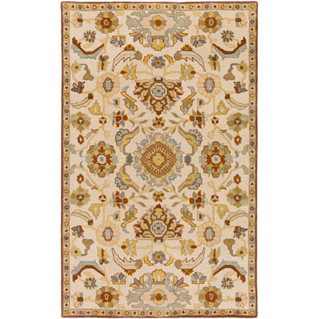 Decor 140 Hanzei Rectangular Rugs, One Size , White