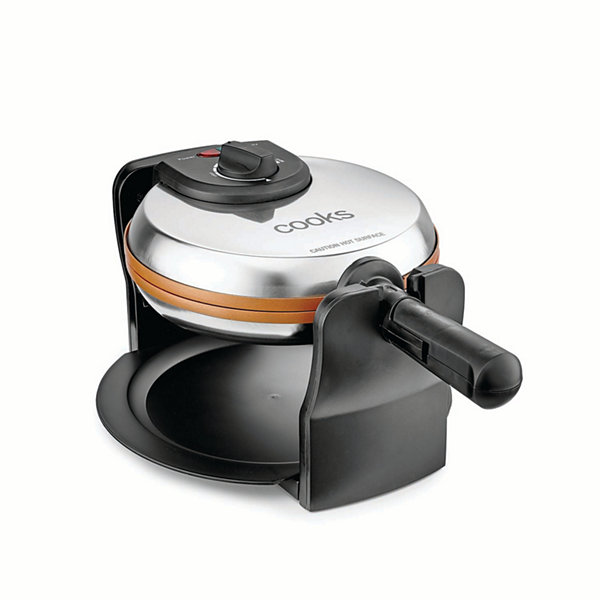 Cooks Rotating Copper Titanium Waffle Maker