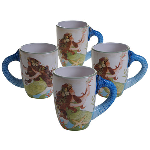 Certified International Sea Beauty 4-pc. Coffee Mug