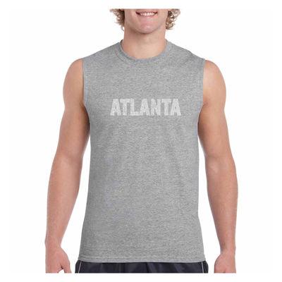 Los Angeles Pop Art Men's Atlanta Neighborhoods Sleeveless T-Shirt - Big and Tall