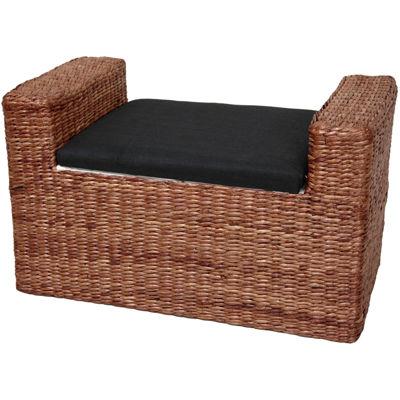 Oriental Furniture Rush Grass Footstool