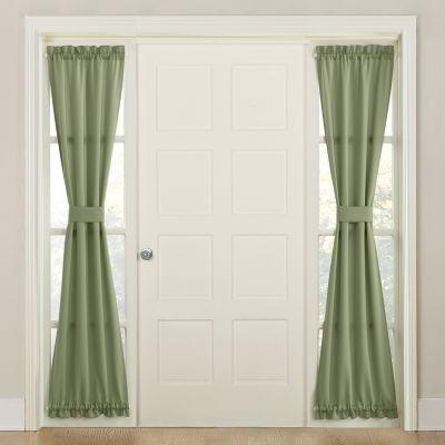 Sun Zero Emory Energy Saving Room Darkening Rod-Pocket Single Sidelight Curtain
