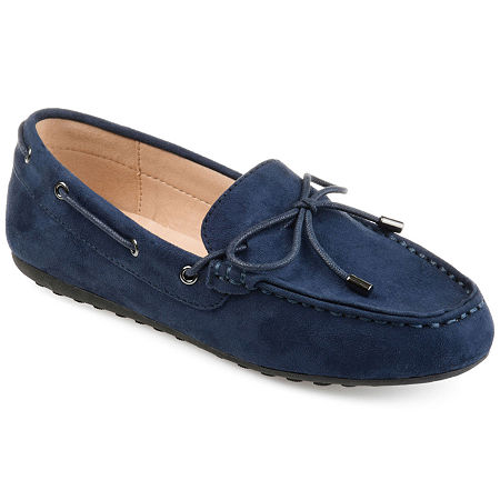 Journee Collection Womens Thatch Slip-On Shoe Round Toe, 7 Medium, Blue